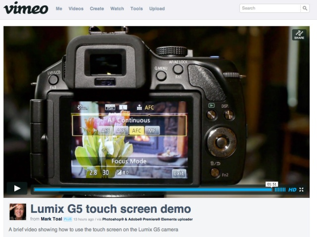 Vimeo touch screen 2