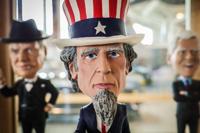 Bobble head uncle sam