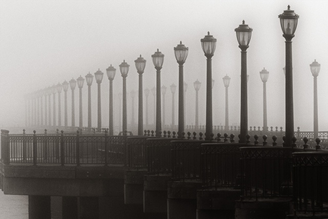 Pier in the fog 3