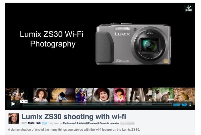 Lumix ZS30 on Video