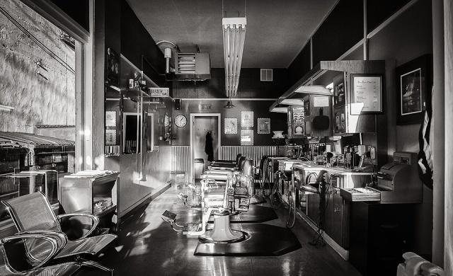 Barber shop bw 3